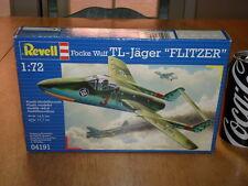 WW#2, GERMAN, FOCKE WULF TL-- JAGER, JET FIGHTER, PLASTIC MODEL KIT, Scale 1/72