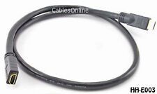 3 ft. HDMI Extension Cable / Cord, 24 AWG CL2, M to F
