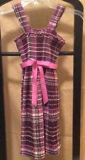 Bonnie Jean Purple Plaid Seersucker Sleeveless Sundress Girl's Size 4/5