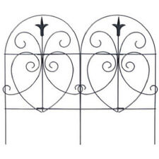 "Panacea 89379 Romantic Style Folding Garden Fence, Black, 18"" x 8'"