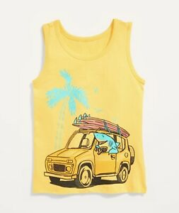 Old Navy Toddler Boy Girl ~ Shark Driving A Car Tank Top ~ Size 2T … NWT