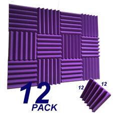 12  purple Acoustic Foam Wedge Tiles Soundproofing Panel Sponge 12x12x2''