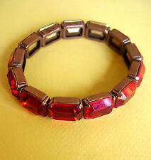 172 /  SCOOTER / BRACELET RIGIDE STRASS ROUGES