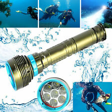 Scuba 20000LM 7x LED Diving Taschenlampe Wasserdicht Flashlight Underwater 200m