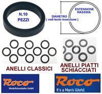 ROCO 40073 SET N.10 ANELLI TRAZIONE e ADERENZA MM.7,5 da mm.8,8 a 10,2 SCALA-N