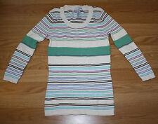 New Womens LIZWEAR Scoop Neck White Black Blue Purple Green Sweater Small S