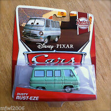 Disney PIXAR Cars DUSTY RUST-EZE on 2013 RUST-EZE RACING CARD diecast 1/8 junker