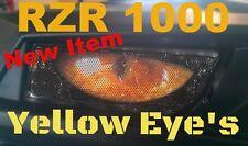 POLARIS  RZR 1000 Rukind Yellow eyes Head Light Cover's New Item 2015-17 RZR 900