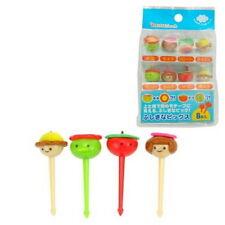 Plastic Face Shape Food Fruit Bento Box Picks 8pcs S-3462