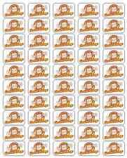 "50 Curious George Envelope Seals / Labels / Stickers, 1"" x 1.5"""