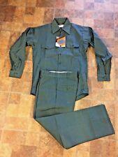Vintage Montgomery Wards Best Dark Green Work Shirt Pants NOS Unworn Outfit WOW