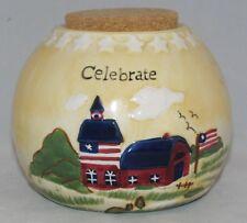 Russ Berrie COUNTRY GATHERINGS Stoneware Jar Crock CELEBRATE