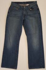 Lucky Brand Men's Jeans Dungarees Gene Montesano Boot Cut Zip Fly Blue 32 Short