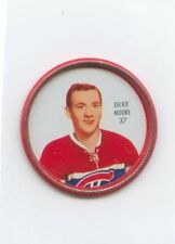 62-63 SHIRRIFF HOCKEY COIN #37 DICKIE MOORE CANADIENS