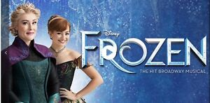 2 x Frozen the Musical Tickets - Melbourne - Saturday 24/07/2021 1:00pm