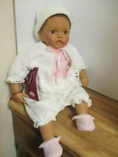 """Gotz 22"""" OOAK Doll Joyce By Didy Jacobsen Brown Eyes and Brown Mohair"""