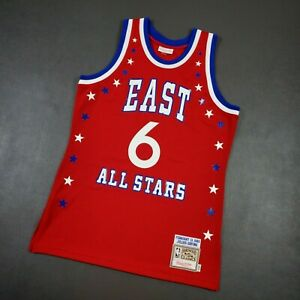 100% Authentic Julius Erving Dr J Mitchell Ness 1983 All Star Jersey Size 40 M