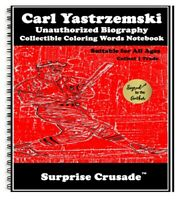 Carl Yastrzemski Baseball Card Sports Trading Card Notebook AUTHOR AUTOGRAPH SET