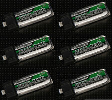 6x Turnigy Nano-Tech 160mah 1s 3.7v 25c 40c LiPo Battery Pack Blade MCX MSR