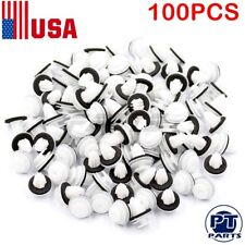 100 pcs Hole Car Plastic Rivet Door Trim Retainer Clips 9mm For Honda Mitsubishi