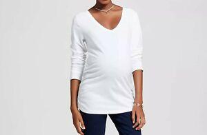 Isabel Maternity by Ingrid & Isabel NWT Long Sleeve Shirred T-Shirt Size Large