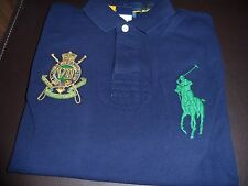 NWT Polo Ralph Lauren Shirt, Custom-Fit Short-Sleeve Jockey Club Polo Navy MED.