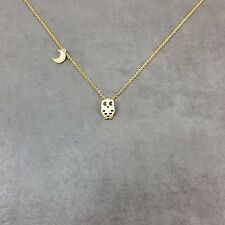 Owl GOLD Plated Necklace Dainty Charm Gift Box Nocturnal Animal Farm Barn