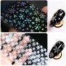 Christmas Snowflake Nail Foils Holographic Nail Art Transfer Stickers Decals DIY