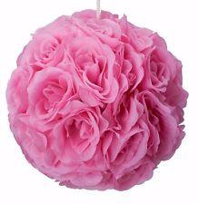 """10"""" Rose Flower Pomander Kissing Balls Wedding, Home Decoration pink"""