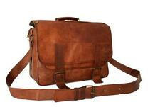 Mens large handmade leather baby bag