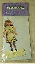 Old Fashioned Repro-Antique PAPER DOLL Cut-Out Shackman 4 Dresses 4 Bonnets NIP
