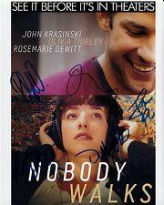 NOBODY WALKS poster 8x10 signed 5 STARS uacc rd coa THIRLBY McDERMOTT DeWITT ++