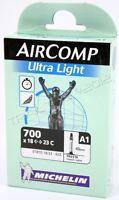 Michelin AirComp Ultra-Light 700x18/23 Road Bicycle Tube  - 40mm Presta Valve