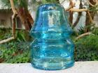 DARK BLUE- THREADLESS S. McKEE & Co. TRANSCONTINENTAL RR Glass Signal Insulator
