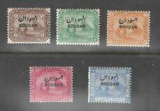 Sudan 1897  Sc 1-5 1m-1p Sphinx O/P Short Set Mtd Mint