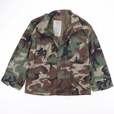 Vintage US ARMY Green Woodland Camo Cold Weather Field Jacket Size Men's Small