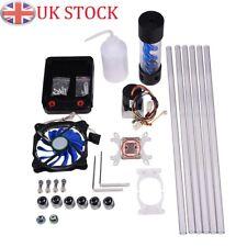 DIY PC Water Cooling Kits 120mm Radiator Pump Reservoir CPU Block Rigid Tubes UK