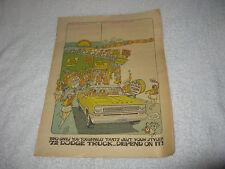 NOS Mopar 1972 Dodge Truck Comic Book