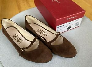 Salvatore Ferragamo Audrey Suede Ladies Women Shoes Size 9 C