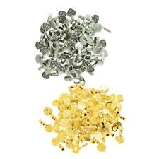 200pcs Gold Antique Silver Heart Shape Glue on Bail Pendants Jewelry Making