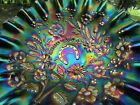 Northwood GOOD LUCK ANTIQUE CARNIVAL ART GLASS PCE BOWL~PURPLE~SPECTACULAR!