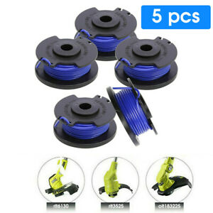 5pcs Spool & Line Cord Fits For Ryobi One + Cordless Trimmers Strimmer 18/24/40V