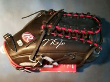 Mike Trout Signed Autographed Rawlings Game Model Black Glove MLB AUTHENTIC