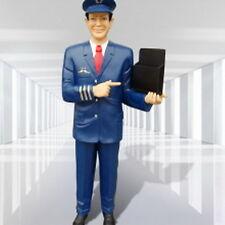 Pilot Skulptur Werbefigur Uniform Groß Flugzeug Reise Figur Statue Lebensgroß