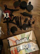 ps3 guitar hero band hero bundle, drums, guitar, mic, 2 x games