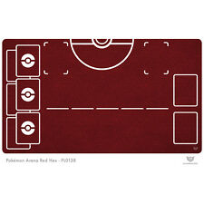 Pokemon Arena Play Mat Red Hex - Pokemon Play Mat (PL0138)