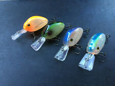 4x Bream Jelly Bean Spinning Crank Deep Diving Fishing Lure Bass Lures Free Post