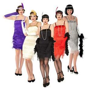 1920s Flapper Dress Womens 20s 30s Charleston Gatsby Ladies Fancy Dress Costume