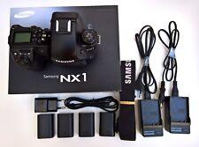 Samsung NX1 con 4289 exposiciones con tres cargadores y 4 baterias