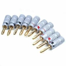 New 10 pcs 24K Gold Nakamichi Speaker Banana Plug Audio Connector Plug